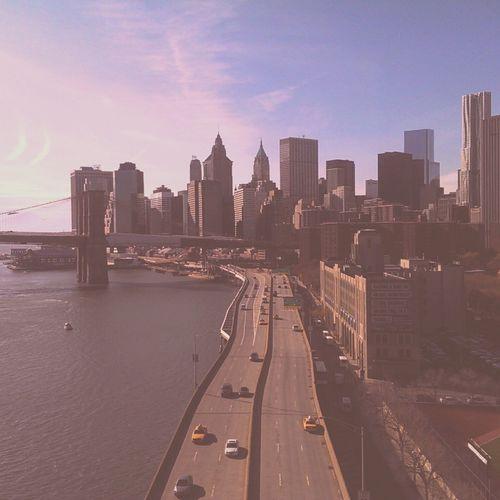 Over the FDR Drive, Manhattan Bridge, Chinatown FDR Drive Manhattan Cityscape