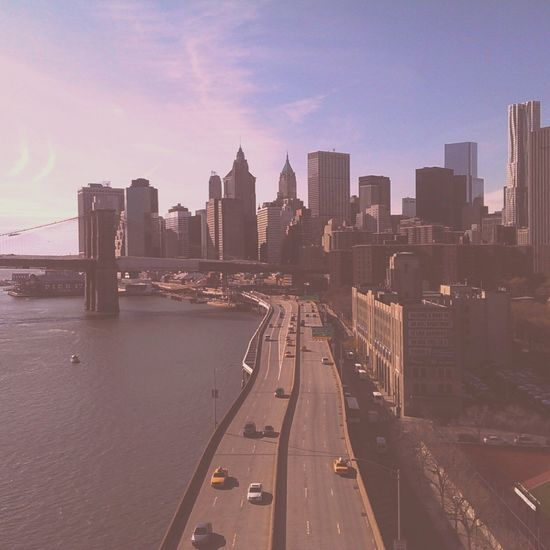 Over the FDR Drive, Manhattan Bridge, Chinatown FDR Drive Manhattan Cityscape