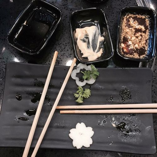 Gone Snack Lunch Dinner Food Food And Drinks Japanese  Chopstick Sushi Maki Wasabi Delicious Sumptuous Meal Cravings TakeoverContrast