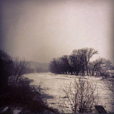 The Winooski on a blustery winter day Winooskiriver Essexvt Willistonvt Vtphoto vermontshots vt vermont vermontbyvermonters greenmountainstate