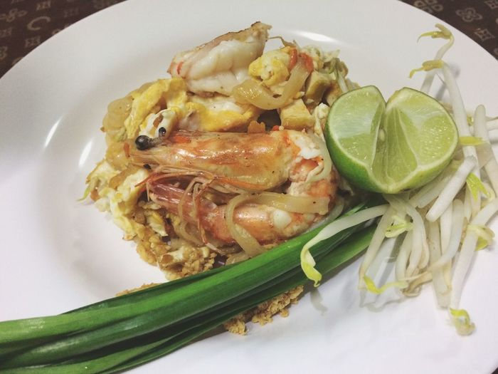 Pad Thai Food And Drink Food Plate Freshness Ready-to-eat Healthy Eating Wellbeing Serving Size