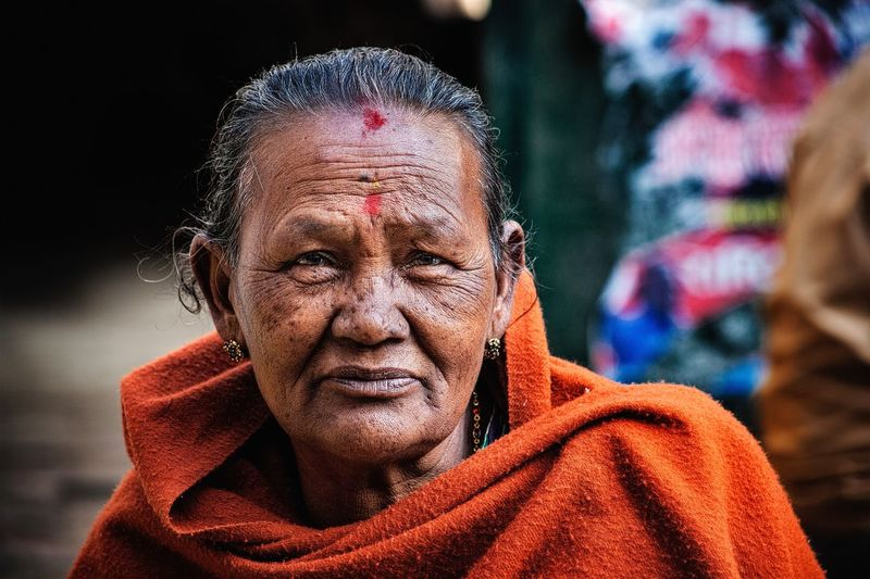 Portrait Woman Human Face Looking At Camera One Person Outdoors Real People Kathmandu, Nepal EyEmNewHere EyeEm Gallery The Portraitist - 2017 EyeEm Awards
