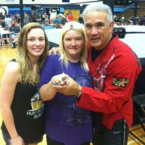 RICKYTHEDRAGONSTEAMBOAT , MY DAUGHTER AND I , MAY 2 , 2015 OMEGAWRESTLING