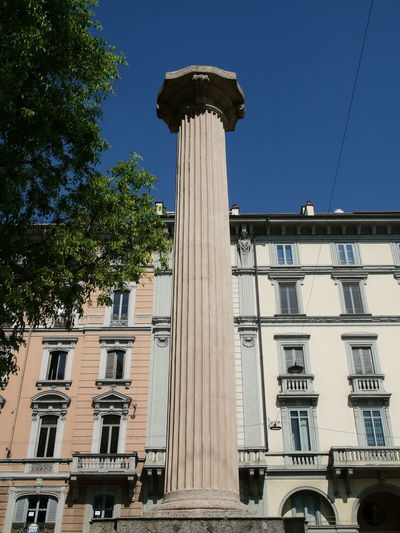 Architectural Column Architectural Detail Architecture Blue Building Exterior Built Structure City Clear Sky Day Low Angle View Photography