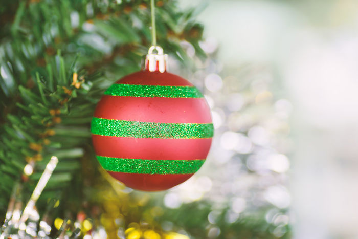 Xmas Bauble Celebration Celebration Event Christmas Christmas Ball Christmas Decoration Christmas Lights Christmas Ornament Christmas Tree Close-up Cultures Day Decoration Focus On Foreground Freshness Green Color Hanging Holiday - Event Indoors  Multi Colored No People Red Tradition Tree