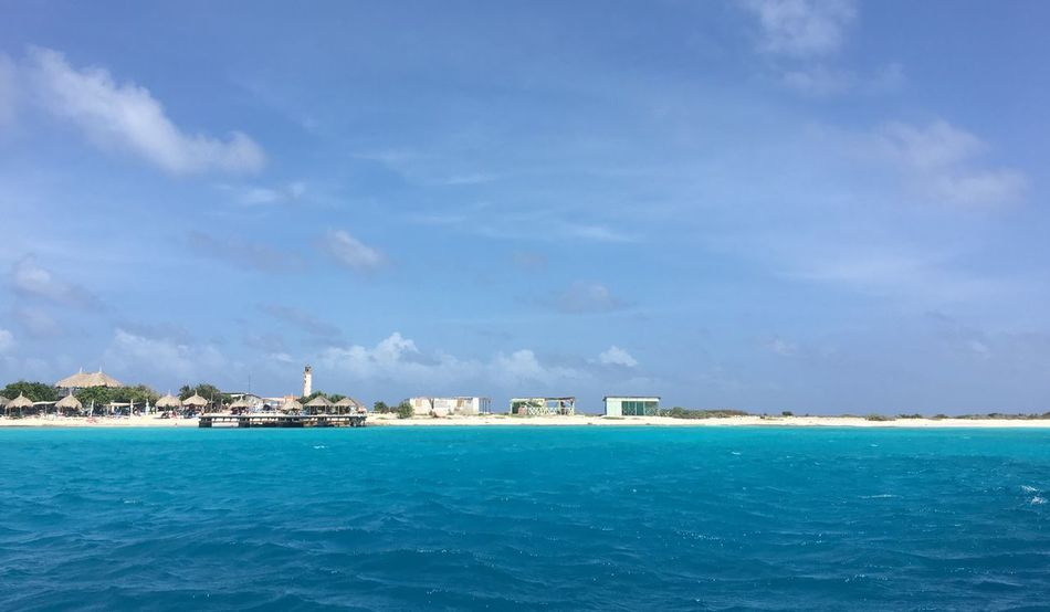 • Lonley Land • Johncalderon Travelisamust No Filter, No Edit, Just Photography Curacao_island Klein Curacao Water Sea Sky Cloud - Sky Built Structure Scenics - Nature Beauty In Nature Outdoors No People Blue