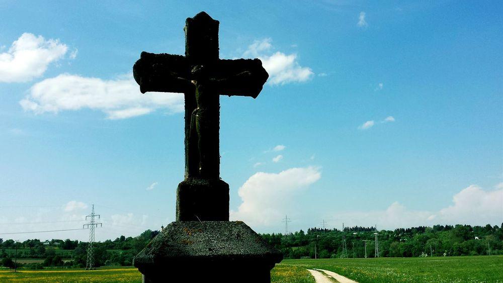The way of life Schwäbischealb Cross Nature Jesus Love Sky Heaven Freedom Badenwürttemberg