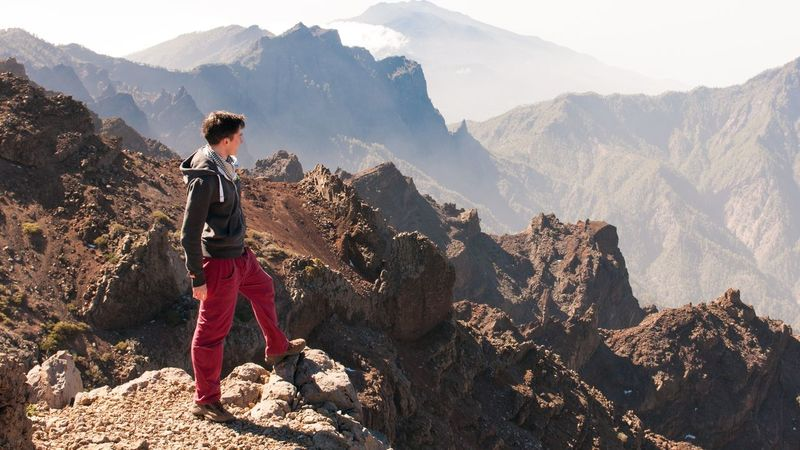 Las Islas Canarias La Palma Highest Mountain Enjoying The View Rockytop Mountain View Nikon D300s Go Higher