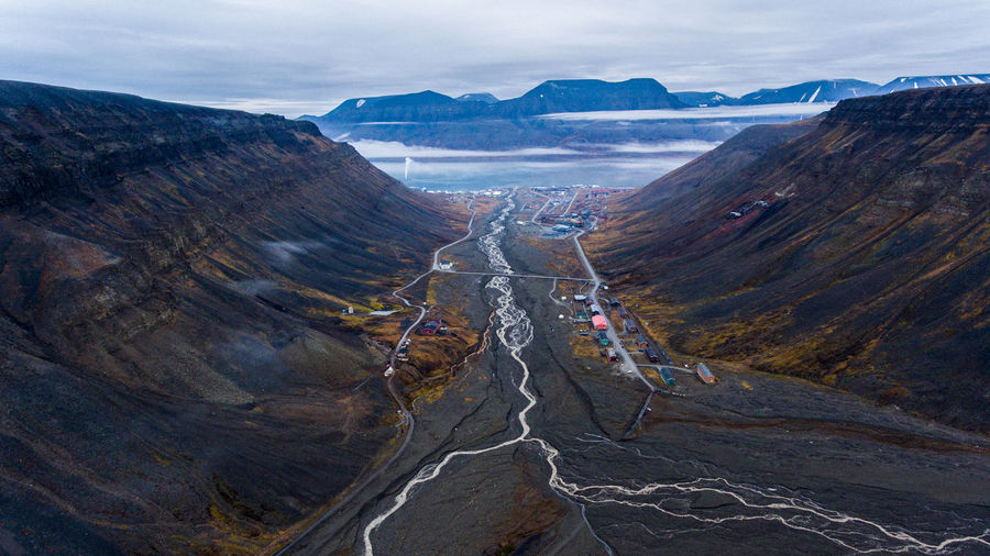 Scenic View Of Valley At Longyearbyen