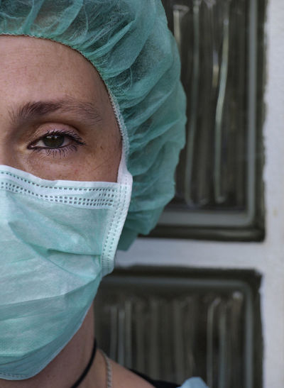 Extreme close up portrait of healthcare worker