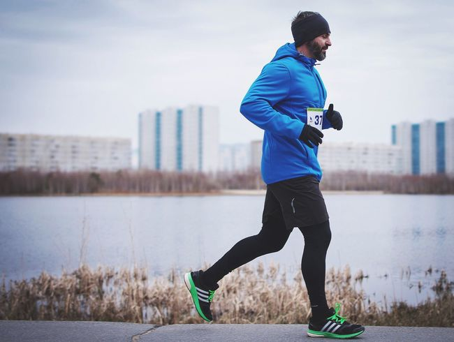 Marathon 22km Running Sports Clothing Sports Training Healthy Lifestyle Only Men Athlete Sport Lifestyles Sportsman One Man Only One Person Activity Full Length Men Motion Nizhnevartovsk Day Russia Nature Live For The Story