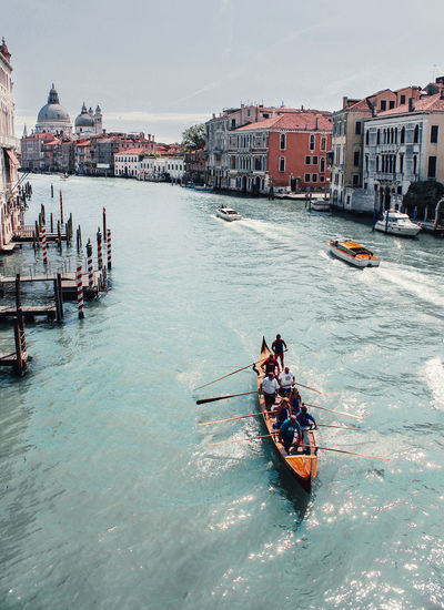Architecture Boat Building Exterior Built Structure Canal City Day Mode Of Transport Nautical Vessel Outdoors Rippled River Riverbank Sailing Sky Transportation Venice Water Waterfront