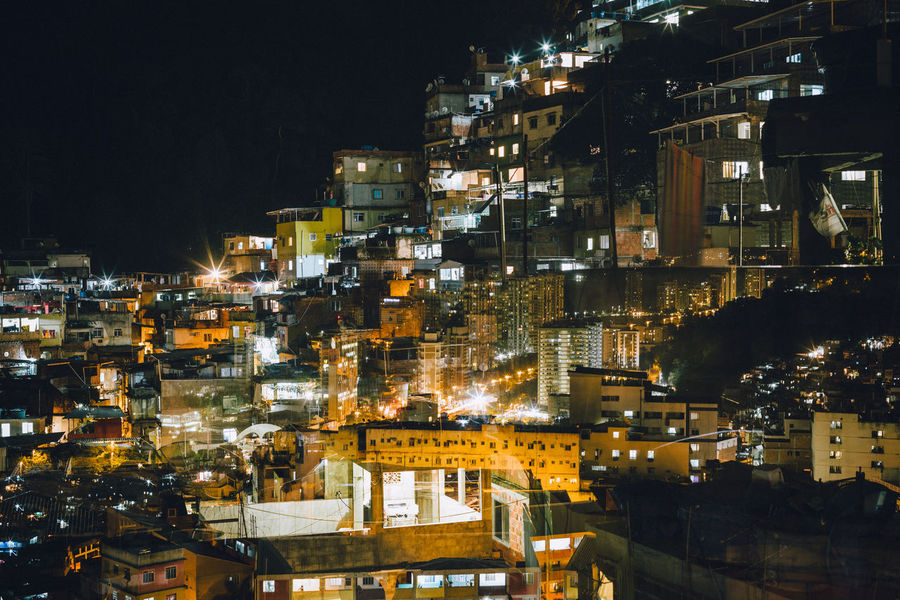 Rocinha Favela at night, Rio de Janeiro - Brazil Chaos Disorder Houses Light Night Lights Rocinha Architecture Building Exterior Built Structure City Cityscape Dense Double Illuminated Night Nightlife No People Outdoors Overcrowded Population Residential  Residential Building Rocinha Slum Sky Town