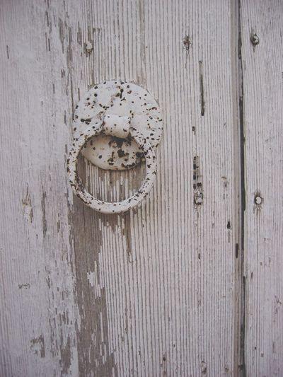Door Door Knocker Knocker White Wooden Greece