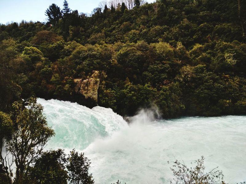 NZ trip 2018. Falls 🌊 Huka Falls, NZ Rotorua New Zealand Taupo, New Zealand New Zealand Natural Travel Destinations Tree Water Sky
