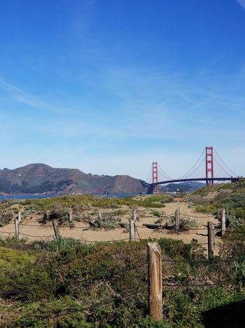 Baker Beach Fences Sand Blue Sky Sunny Day Landmarks Pacific Ocean