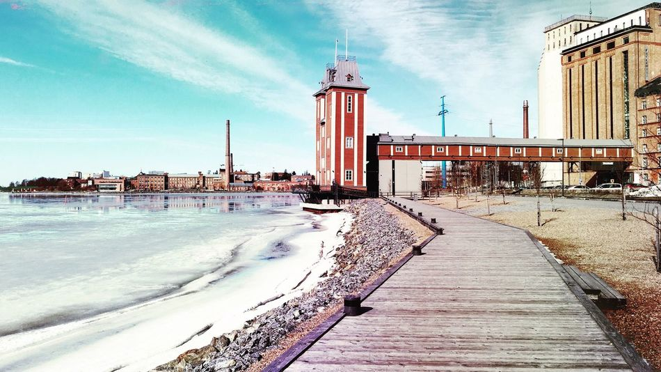 Old Harbour Harbour Landscape Vaasa Finland Architecture Photography March 2016 Iceblue Horizon Oldmill History First Eyeem Photo
