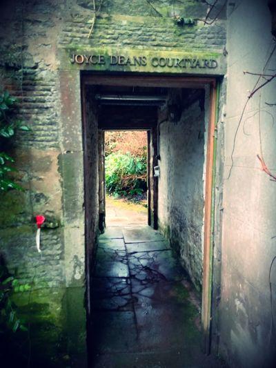 Entrance of old abandoned building