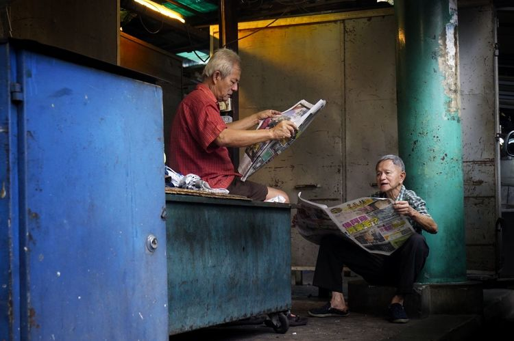 MORNING NEWS Agoesalwie Agoes2018 Nikonstreet Nikonmalaysia NikonAsia VisitKL VisitMalaysia2020 Streetphotography Streetlife The Street Photographer - 2018 EyeEm Awards Sitting Senior Adult Women Community Senior Women Senior Couple Old Friend Friend Retirement Community Retirement