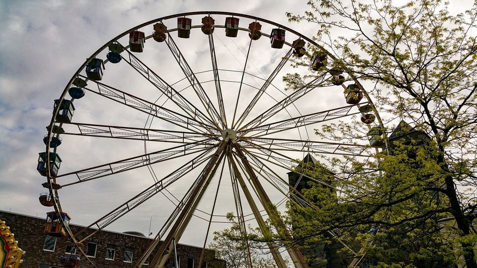 Low Angle View Amusement Park Ferris Wheel Day City No People Built Structure