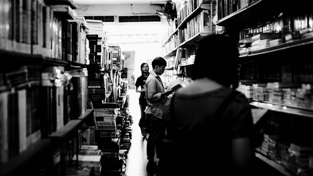 The Street Photographer - 2017 EyeEm Awards Library BookLovers Contemplating Inner Peace Light And Shadow Blackandwhite Street Photography Kinda Random