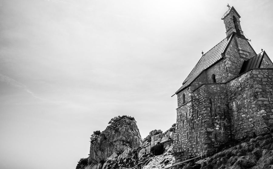 Alps Architecture Bavaria Black Black & White Black And White Blackandwhite Church Churches Cloud Cloud - Sky Cloudy Germany Historic History Monochrome Mountain Mountains Mystery No People Outdoors Religion Sky Spirituality Wendelstein