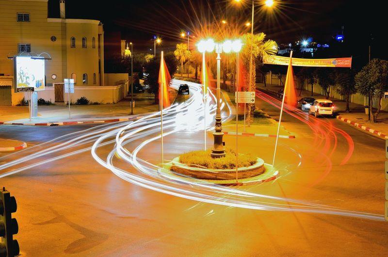 الحمد_لله Colors Night Photography Lights Car Lights Oujda City, Morocco Oujda By Night Night سبحانك ربي City Lights