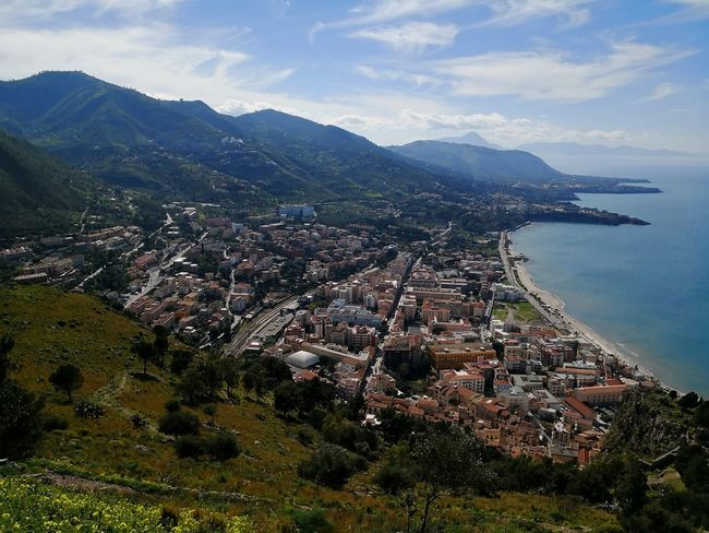 Cefalu panorama Cefalu  Sicily Sicily, Italy EyeEm Selects Mountain City Aerial View Cityscape High Angle View Summer Sky Architecture Building Exterior Landscape Mountain Range Horizon Over Water Idyllic Snowcapped Mountain Rocky Mountains Seascape Shore Mountain Road Calm Ocean Wave