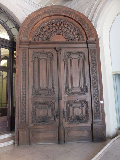Wooden Door at Municipal Building, Municipal Square Architectural Feature Built Structure Capital City City Closed Composition Design Door Entrance Door Full Frame Historic Historic Doors Indoor Photography Municipal Building No People Ornate Tourism Tourist Destination Town Hall Wood - Material Wooden Door