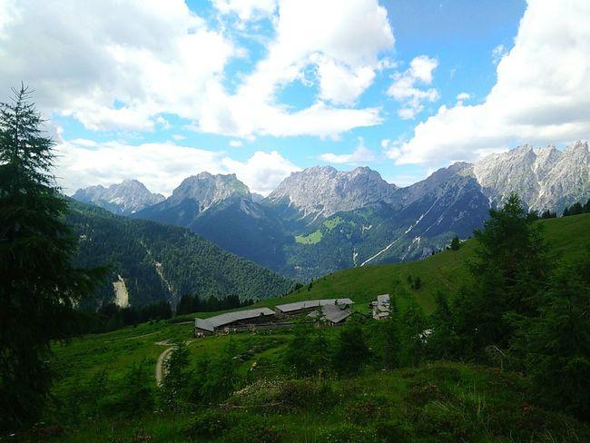 Mountain panorama Sauris Mountains And Sky Mountain View