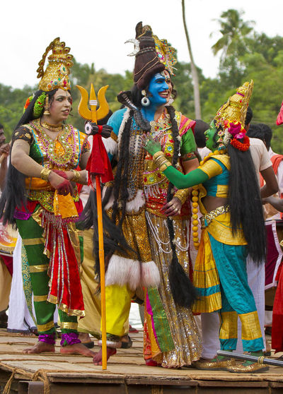 Godly smile Adult Arts Culture And Entertainment Boat Celebration Day Festival Gods GodsOwnCountry India Indian Celebration 🎉 Indian Culture  Kerala Kerala The Gods Own Country ;) Lord Shiva Onam Outdoors People Performance Real People Traditional Clothing