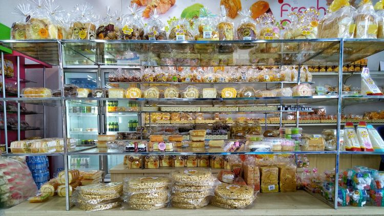 shop Eating Bakery Shop Large Group Of Objects No People Indoors  Day