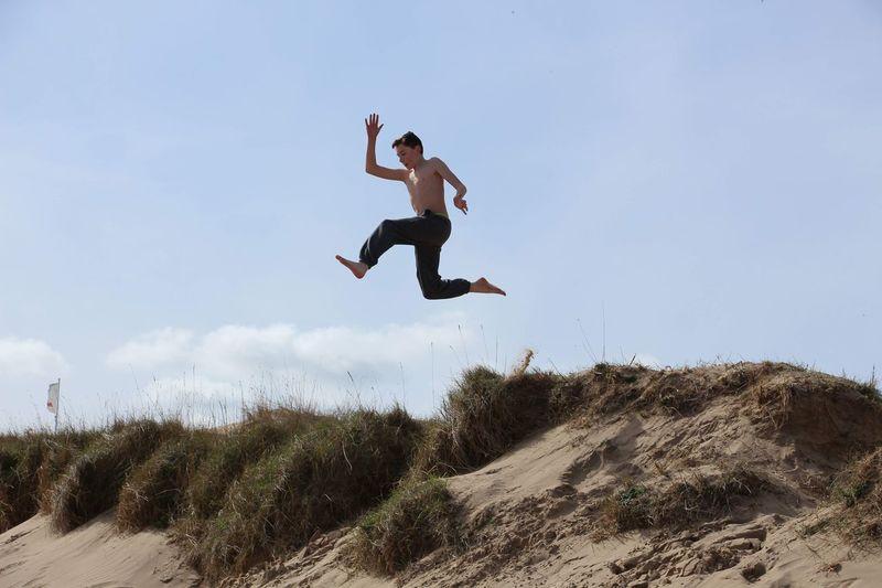 Jumping Mid-air