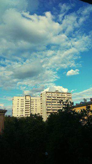 После бури Architecture No People Building Exterior Built Structure Cloud - Sky City Cityscape Day Sky Tree Москва деревья москва / Moskva двор