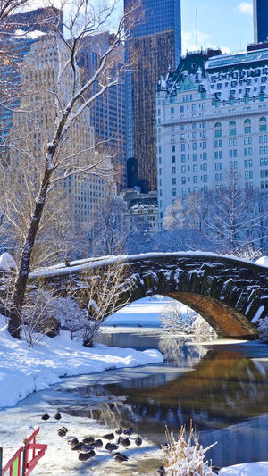 Architecture Winter Snow Water City No People Outdoors Bridge My Best Photo