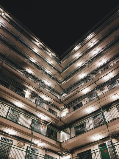 //Neighborhood// Built Structure Architecture Low Angle View Outdoors Hk HKG Concrete Jungle Hong Kong City Oneplus3 Residential Building Residential  Estate 南山邨 石硤尾 The City Light