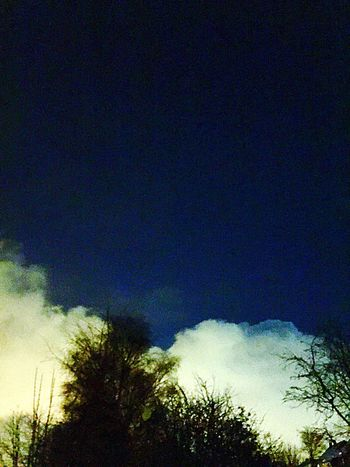 Clouds Beast From The East Night Low Angle View Nature Tranquility Sky No People Beauty In Nature Silhouette Tree Outdoors Blue Astronomy