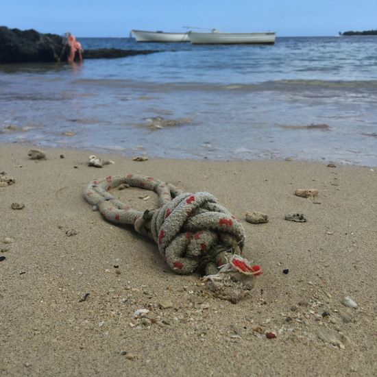 Beach debris Rope Ropes Sea Seaside Seaside_collection Sea And Sky Sea View Rope Art Mauritius Island  Mauritius