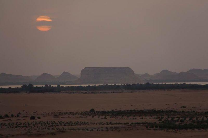 Sunset Vacation Time Desert Siwa Oasis Nature