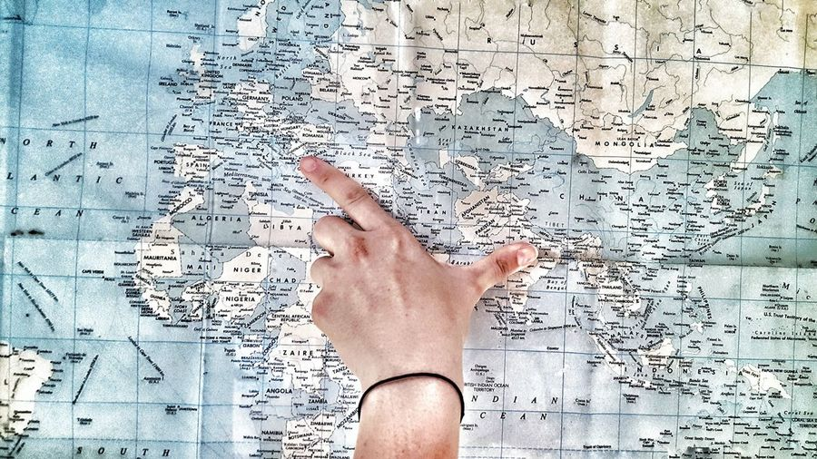 Map Journey Path Travel Destinations Nepal Croatia Road Trip Globe Miles Away Colour Of Life Lifestyles Travel Photography Free New Women Around The World Happy Hand Distance Faraway Close Human Body Part One Person Human Hand Communication Adult Close-up