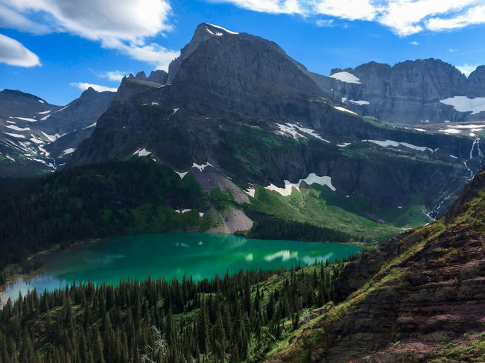 Angel Wing at Grinnell Lake, Montana Adventure Beauty Day Emerald Escape Forest Glacier Green Grinnell Lake Hiking Hiking Landscape Montana Mountain National Nature No People Outdoors Park Pine Pristine Sky Water Wilderness