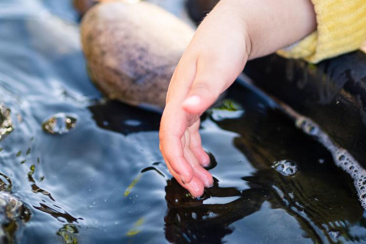 Child hand and