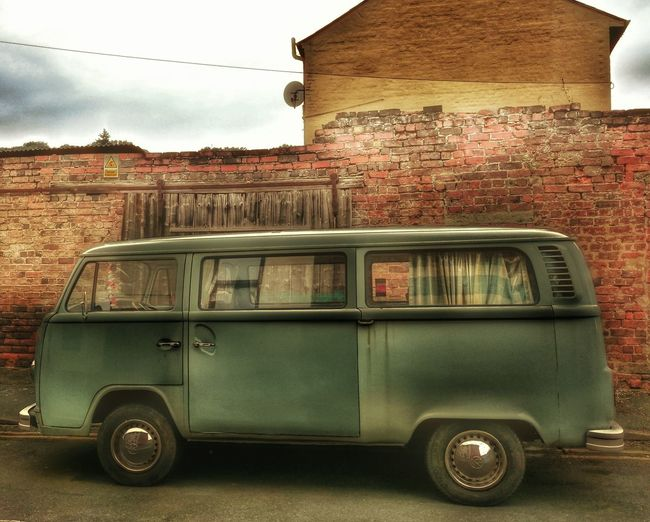 Brick Wall Vw Camper Van Vw Camper Vdublove Vdub VDubStyle CaMpEr LiFe... Classic Elegance Classic Beauty Classic Style Taking Photos Sony Xperia Z3 Snapseed Editing  The Drive The Way Forward