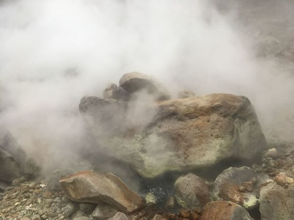 Beauty In Nature Day Erupting Fog Geology Geyser Heat - Temperature Hot Spring Landscape Nature No People Outdoors Physical Geography Power In Nature Rock - Object Scenics Smoke - Physical Structure Steam The Natural World Volcanic Crater Volcanic Landscape Water