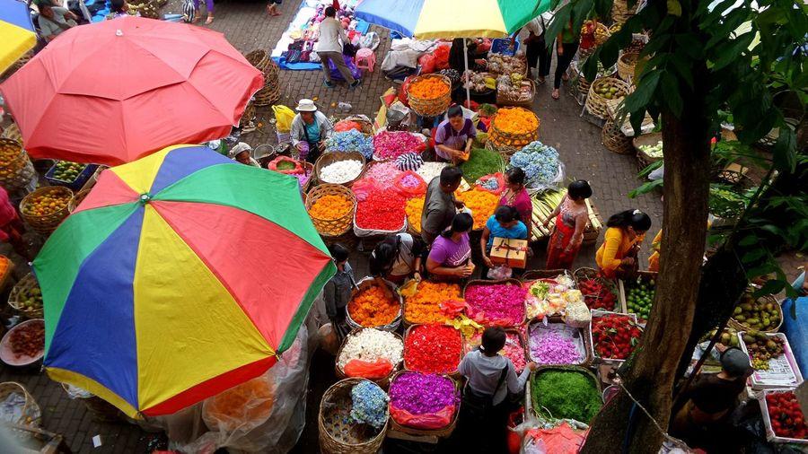 Full frame shot of colorful market stall
