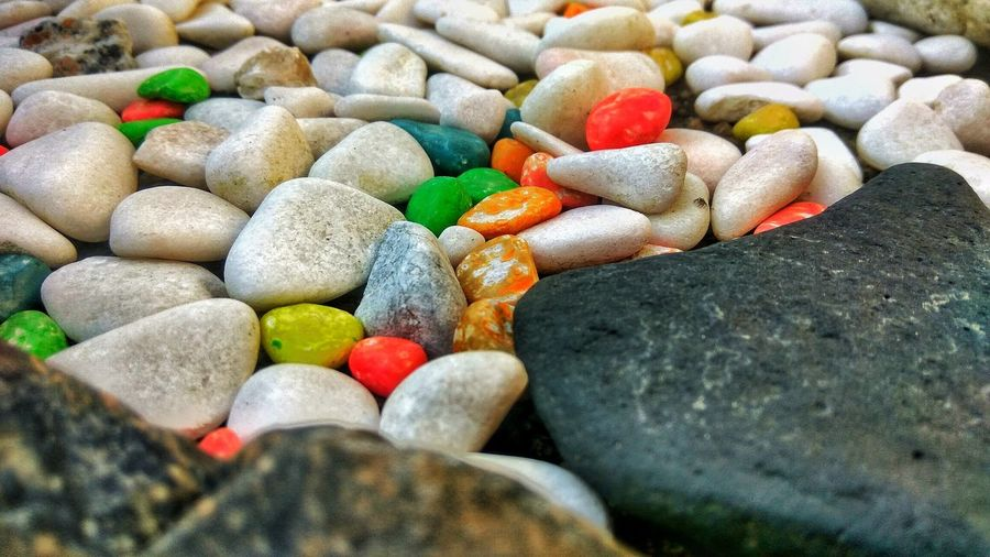 Solid Rock Stone No People Large Group Of Objects Rock - Object Stone - Object Pebble Day Close-up Multi Colored Nature Textured  High Angle View Full Frame Shape Variation Colors Colorful Abstract Photography EyeEmNewHere