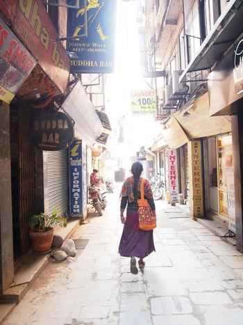 Women Only Women One Person City Beautiful Woman Architecture Outdoors Walking Beautiful People Travel Photography Nepal Travel Nepal Traveling Sky City Day Street Photography Streetphotography Kathmandu Thamel Street The Street Photographer - 2017 EyeEm Awards