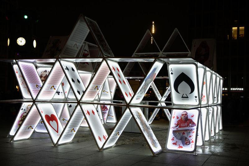 Festival Of Lights 2015 Night Photography Architecture Art And Craft Geometric Shape Illuminated Night No People