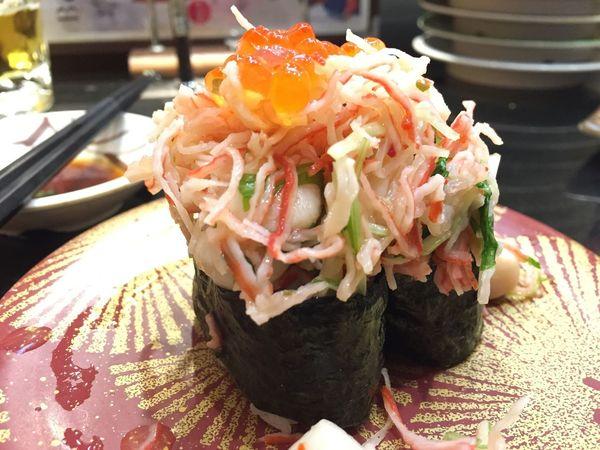 海鮮軍艦。あそこは、軍艦を食べないとな。中落ちが売り切れだったのが残念。 Sushi すし 軍艦巻き
