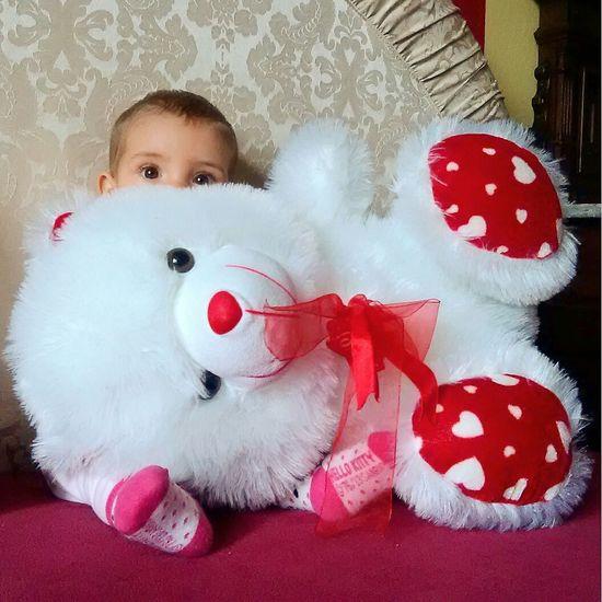 Babygirl Plushtoy Baby Hallo Kitty Teddy Teddybear Big Teddy Bear  White Bear Pikaboo Bear